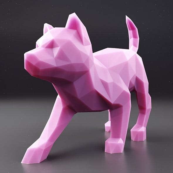 Husky Puppy Low Poly 3 - 3DOcean Item for Sale