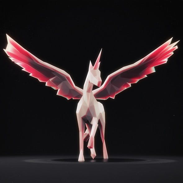 Unicorn Low Poly 1 - 3DOcean Item for Sale
