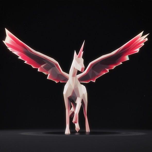 Unicorn Low Poly 1