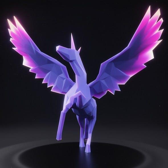 Unicorn Low Poly 2