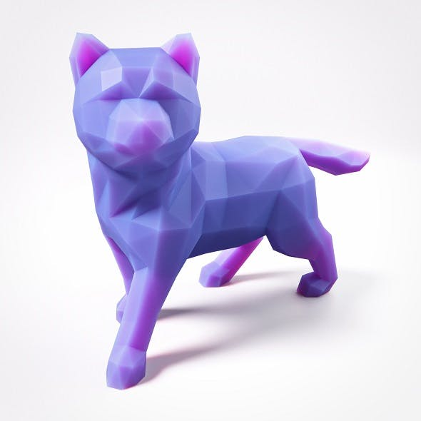 Puppy Shiba Inu Low Poly 4 - 3DOcean Item for Sale