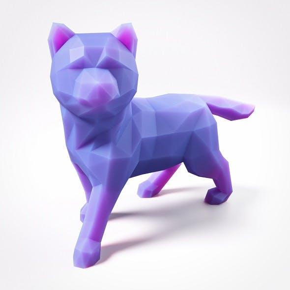 Puppy Shiba Inu Low Poly 4