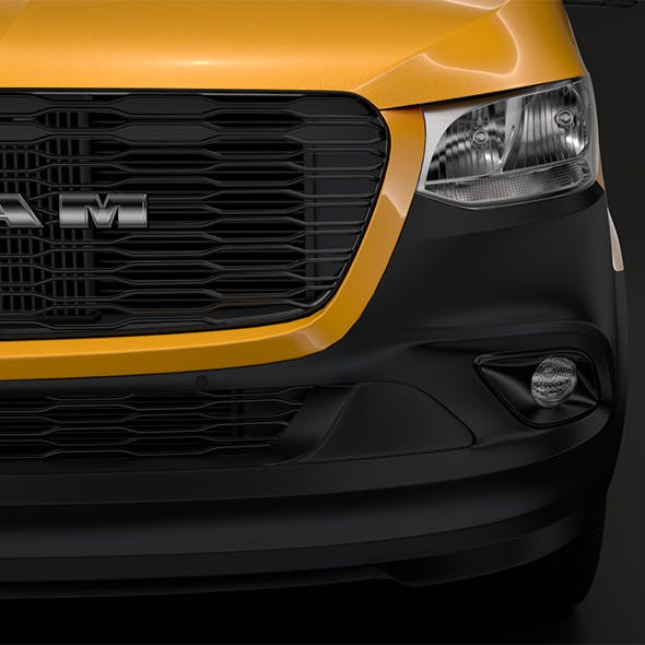 RAM Sprinter Panel Van L2H2 RWD 2019 - 3DOcean Item for Sale