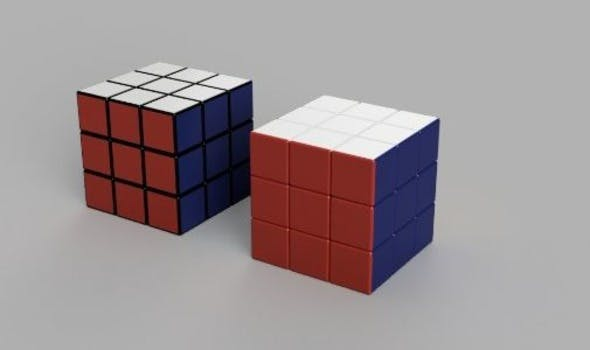 Rubik's cube 3x3 Realistic size - 3DOcean Item for Sale
