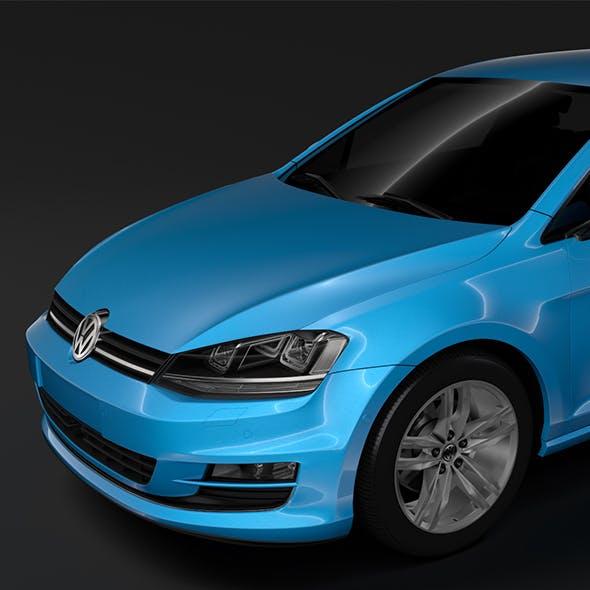 Volkswagen Golf 7 TDI 5D 2016 - 3DOcean Item for Sale