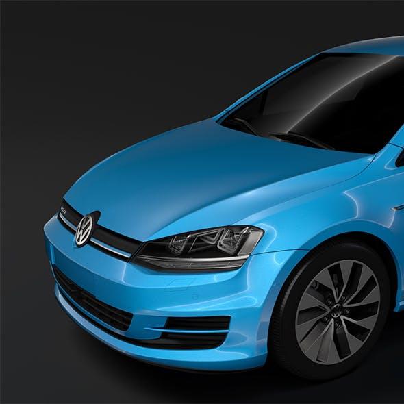 Volkswagen Golf 7 TGI BlueMotion 5D 2016 - 3DOcean Item for Sale