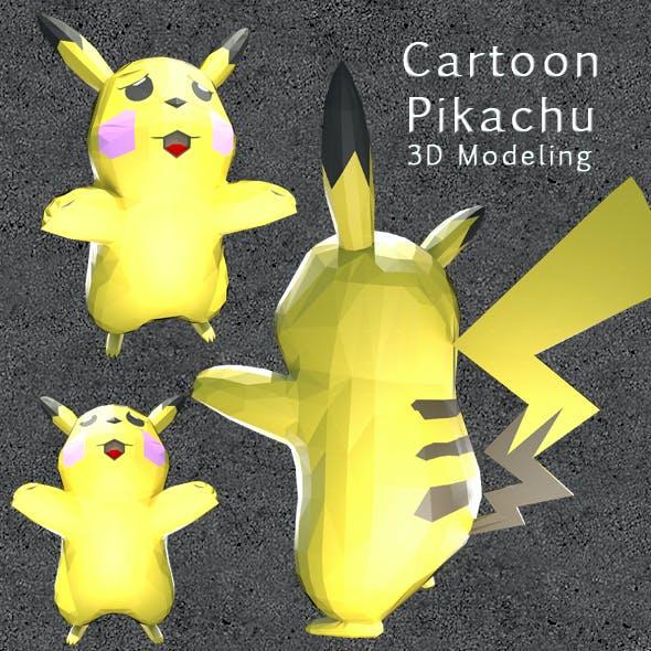 Cartoon Pikachu_3D Modeling