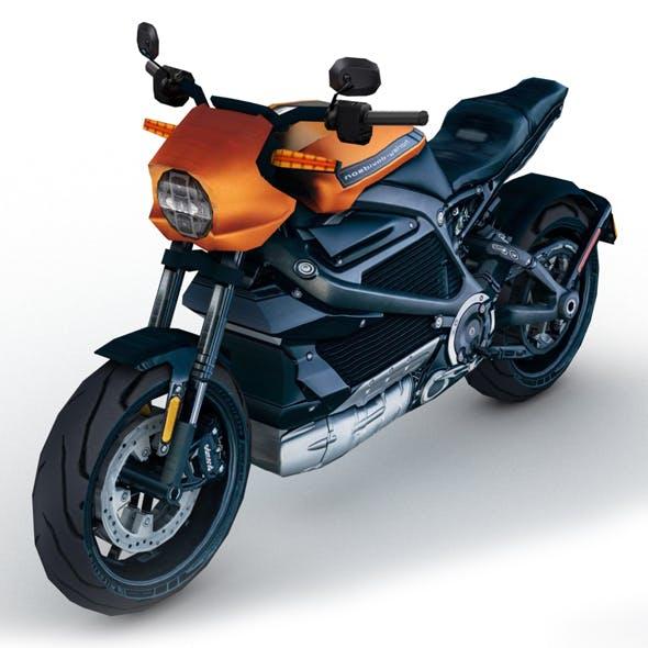Low poly Harley Davidson LiveWire