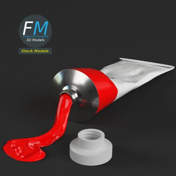 Paint tube open - 3DOcean Item for Sale