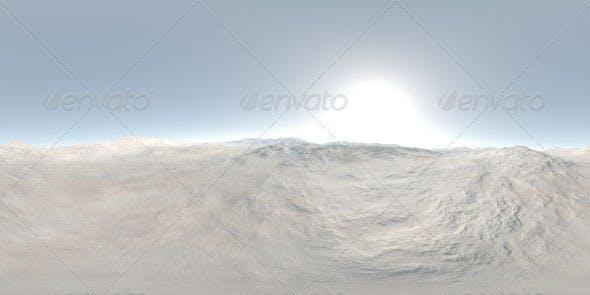 Visible Sun Mountainous Landscape CG HDRI - 3DOcean Item for Sale