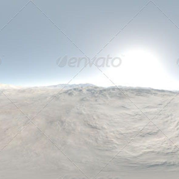 Visible Sun Mountainous Landscape CG HDRI