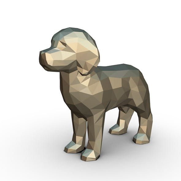 Golden labrador figure