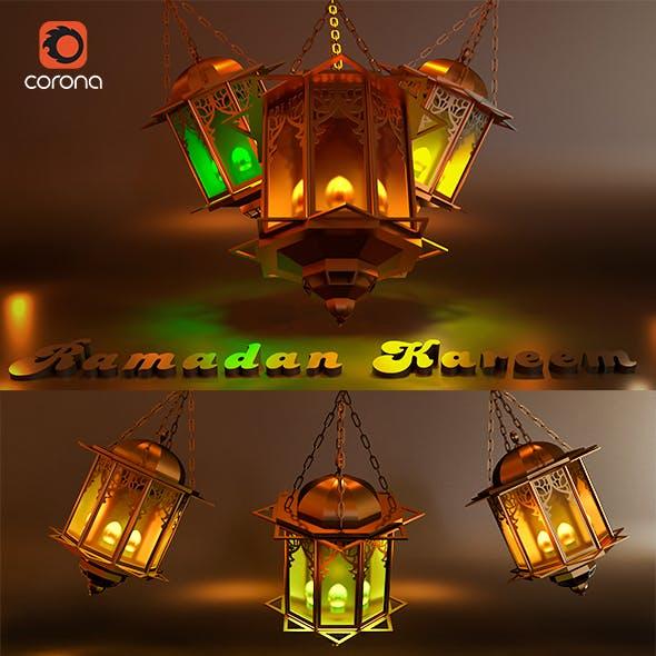 Ramadan Kareem Lantern Lighting - 3DOcean Item for Sale