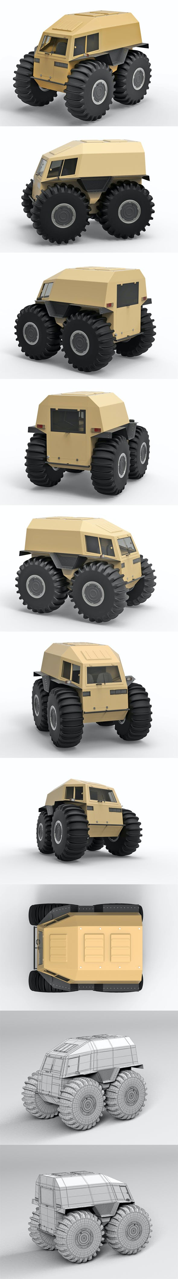 Cross country vehicle SHERP - 3DOcean Item for Sale