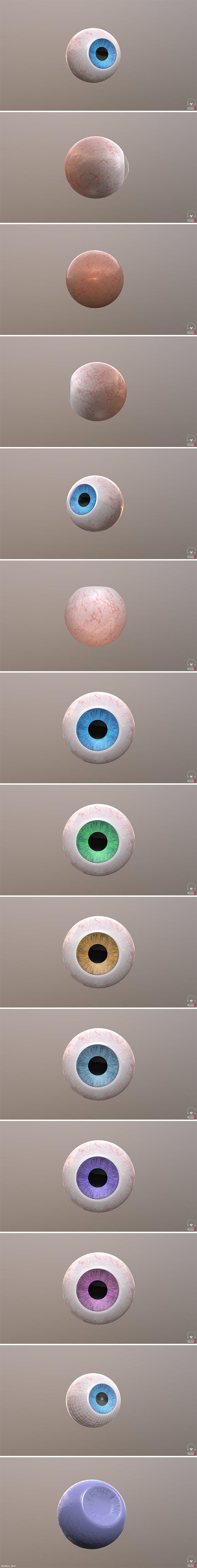 Pack Eyeball - 3DOcean Item for Sale