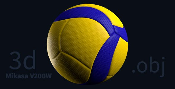 Mikasa v200w volleyball ball - 3DOcean Item for Sale