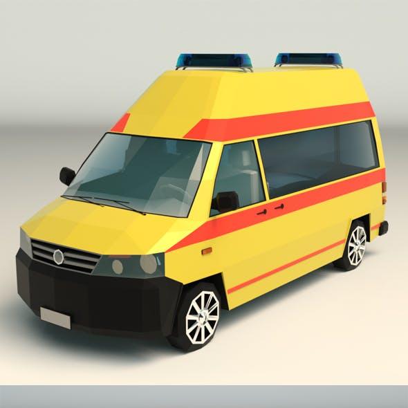 Low Poly Ambulance 03
