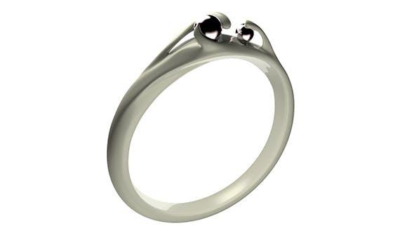 Black Pearl Ring - 3DOcean Item for Sale