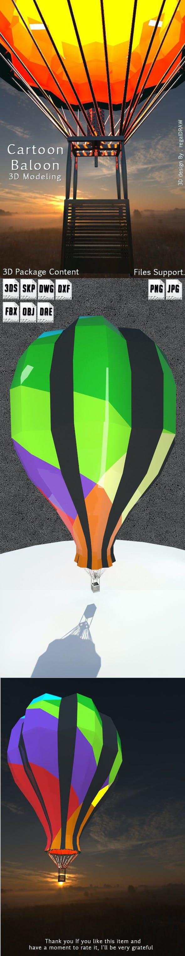 Cartoon Balloon_3D Modeling - 3DOcean Item for Sale