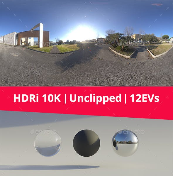 HDRi - Asphalt, buildings and street art - 3DOcean Item for Sale