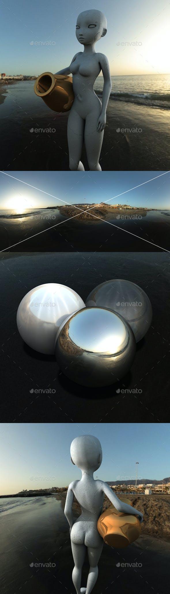 Black Sand Sunset HDRI - 3DOcean Item for Sale