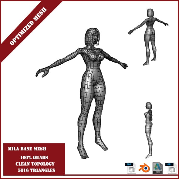 Mila Base Mesh - 3DOcean Item for Sale