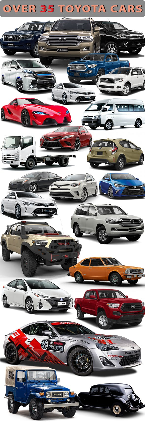 TOYOTA CARS PACK - 3DOcean Item for Sale