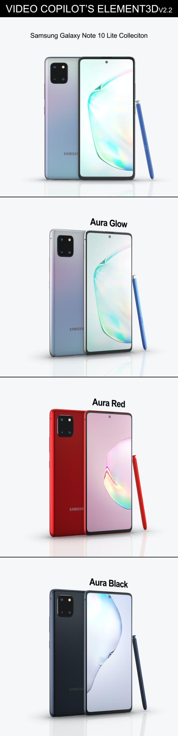 Element3D - Samsung Galaxy Note 10 Lite - 3DOcean Item for Sale