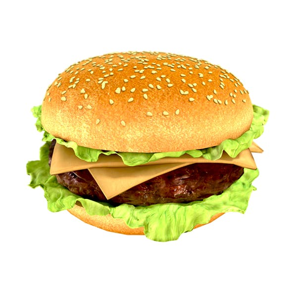 Photorealistic hamburger