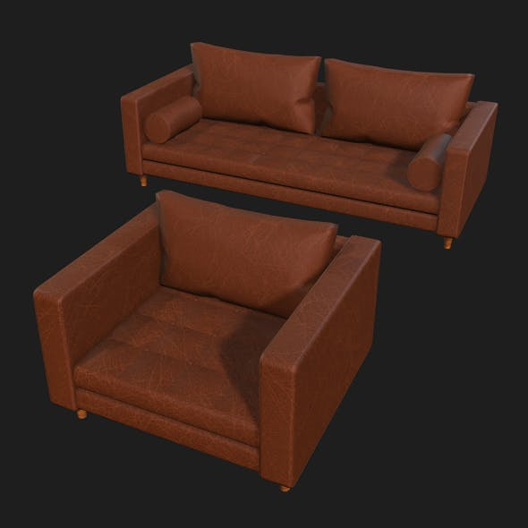 Leather Sofa Pack - 3DOcean Item for Sale