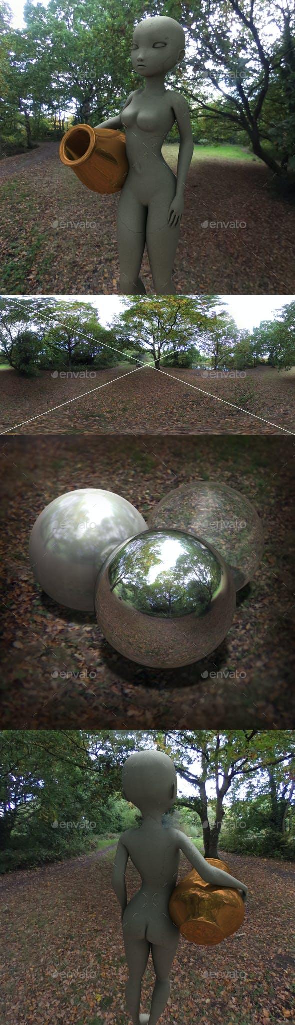 Autumn Park HDRI - 3DOcean Item for Sale