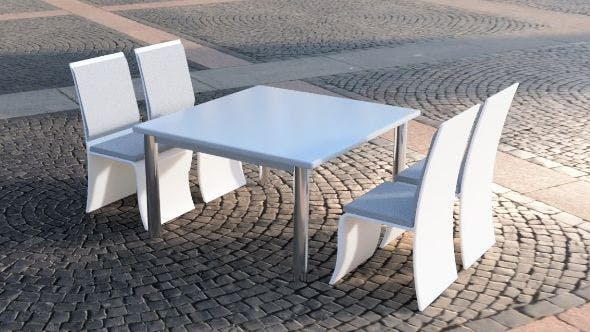 Table and chairs set - 3DOcean Item for Sale