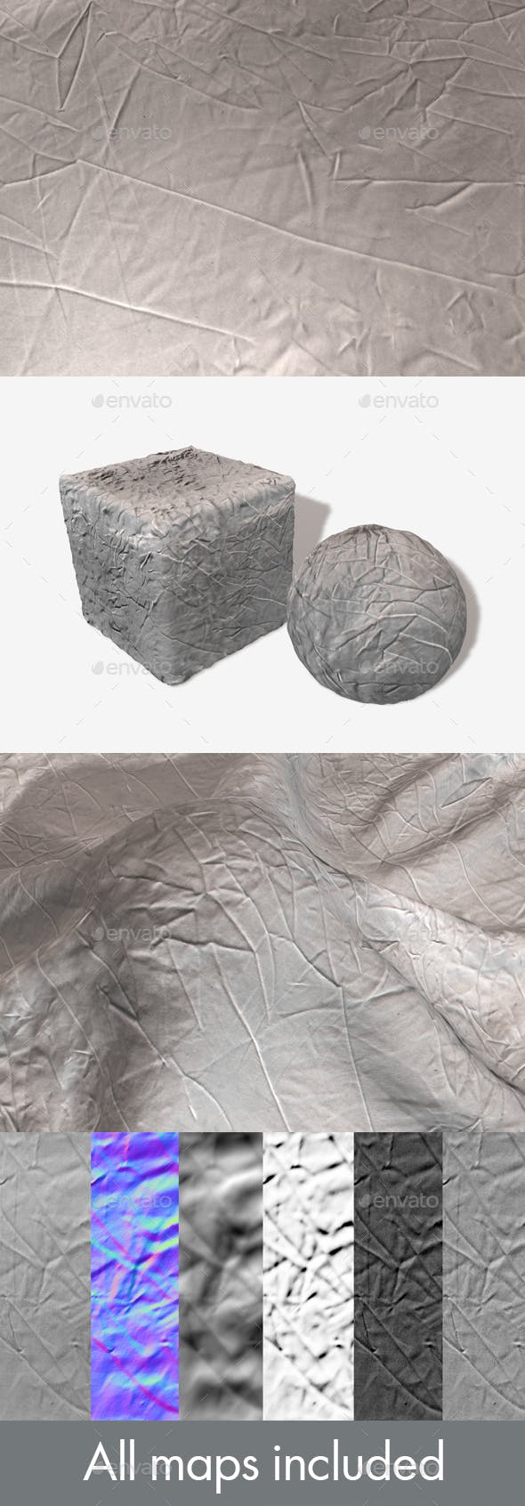 Creased Fabric Seamless Texture - 3DOcean Item for Sale