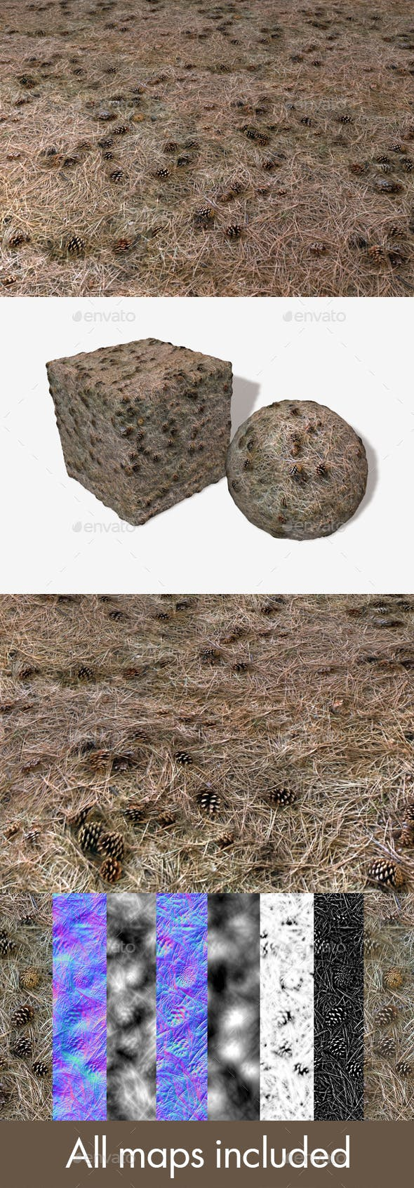 Dry Forest Ground Seamless Texture - 3DOcean Item for Sale