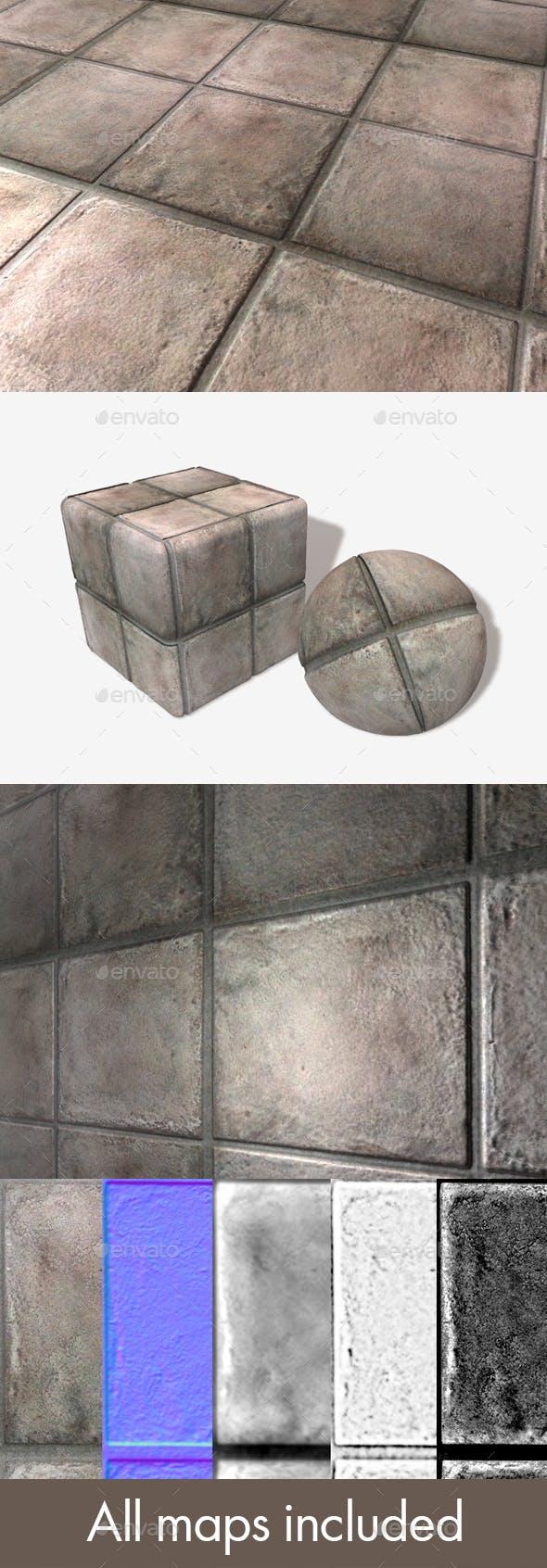 Floor Tiles Seamless Texture - 3DOcean Item for Sale