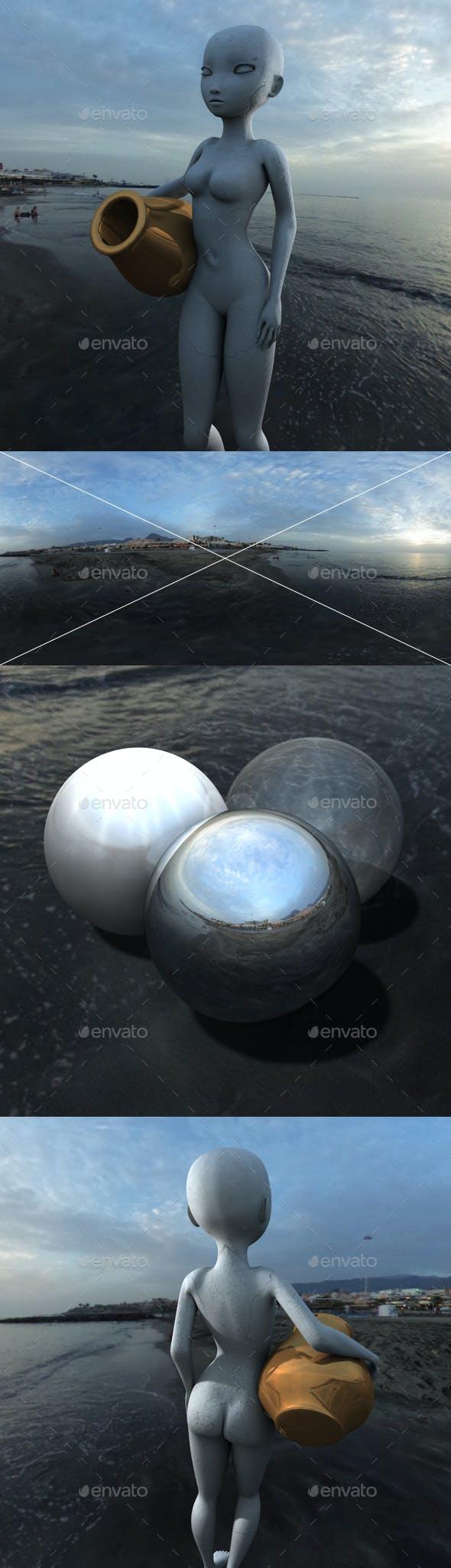 Overcast Black Sand Beach HDRI - 3DOcean Item for Sale