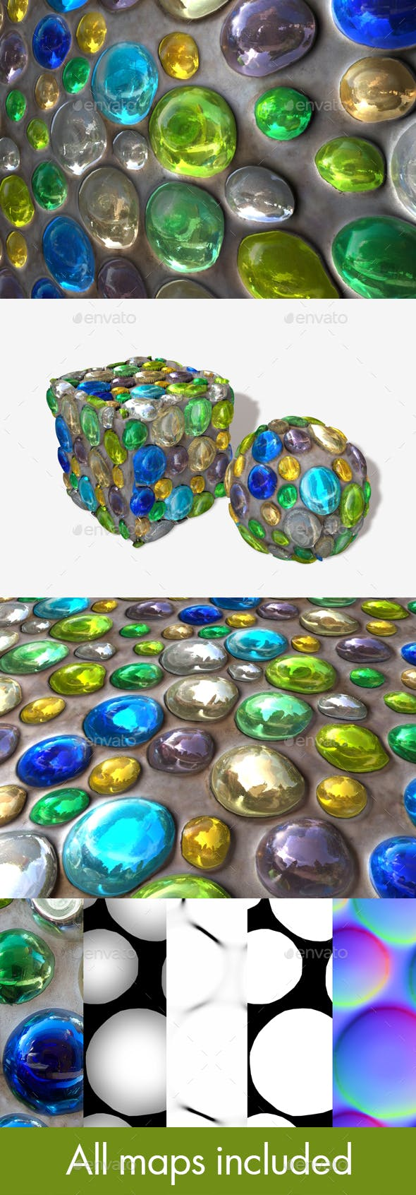 Shiny Ball Decorated Wall Seamless Texture - 3DOcean Item for Sale