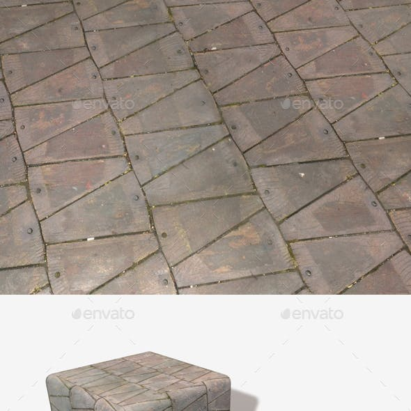 Triangular Wooden Slabs Seamless Texture