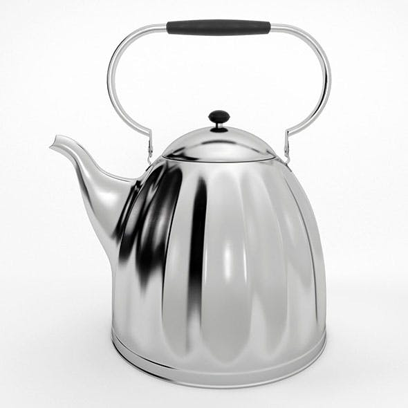 Large Classic Nickel Plated Kettle - 3DOcean Item for Sale