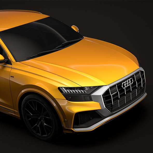Audi Q8 50 TDI quattro S line Vorsprung Edition 2018 - 3DOcean Item for Sale