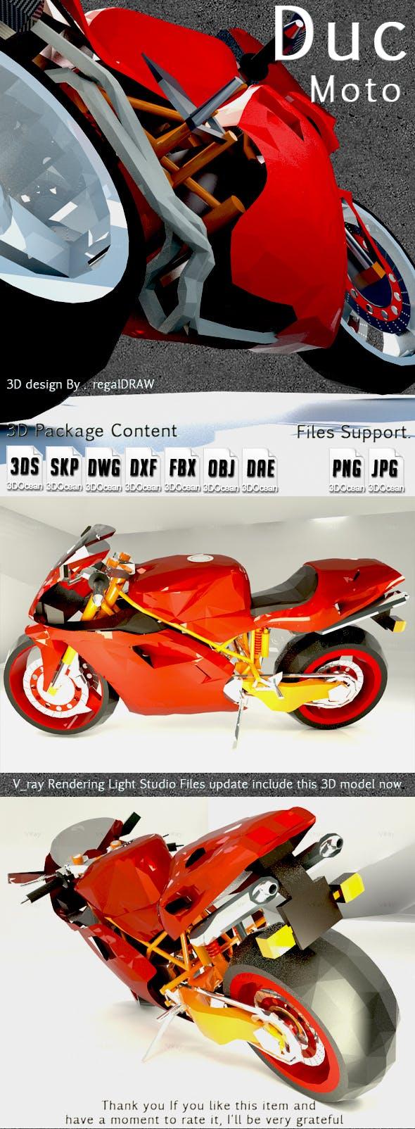 Duc Moto_3D Modeling - 3DOcean Item for Sale