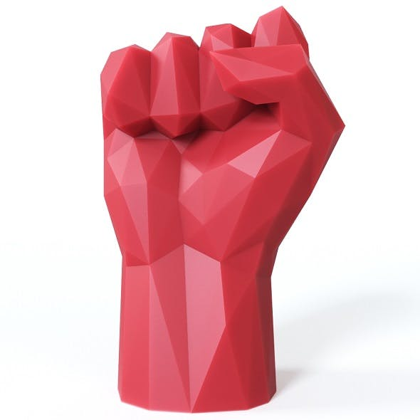 Hand Fist Low Poly - 3DOcean Item for Sale