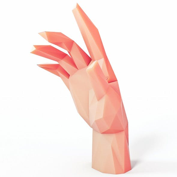 Hand Pose 1 Low Poly - 3DOcean Item for Sale