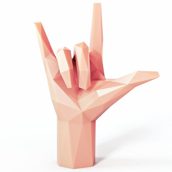 Hand Rock Low Poly - 3DOcean Item for Sale