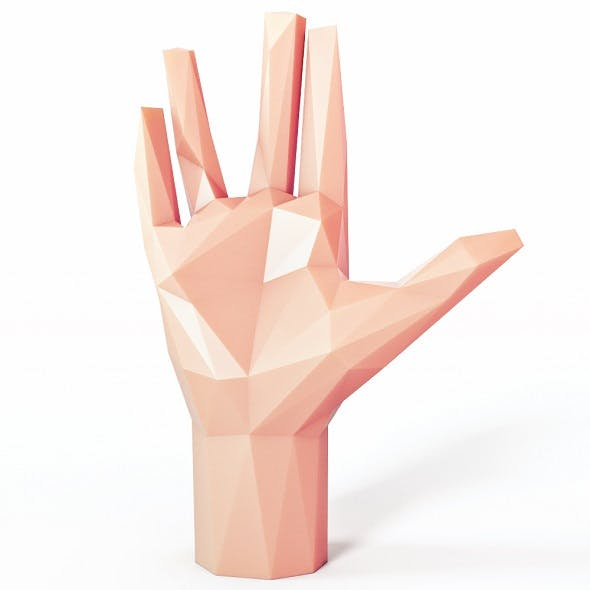 Hand Spock Low Poly