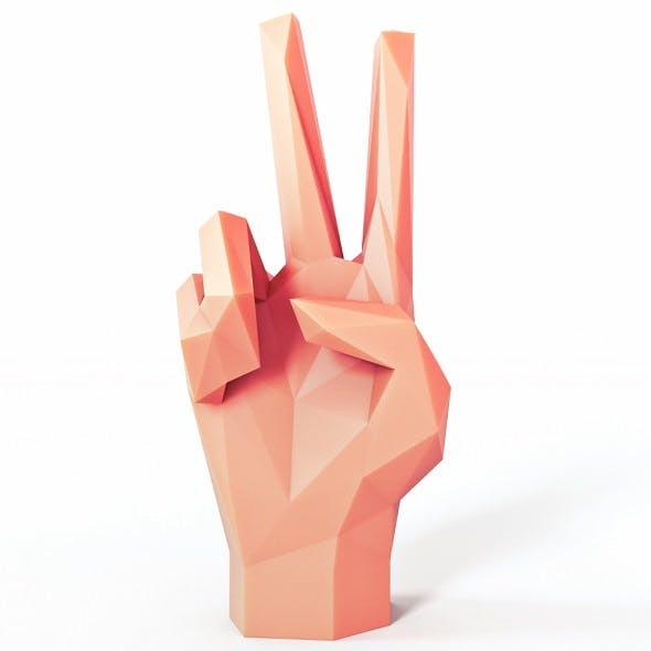 Hand Helping Low Poly