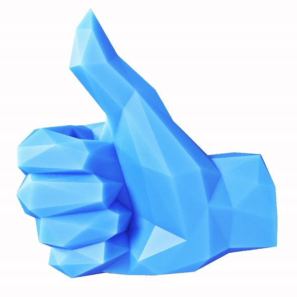 Hand Thumbs Up Low Poly