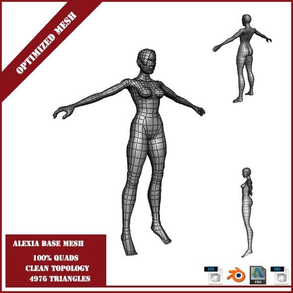 Alexia Base Mesh - 3DOcean Item for Sale