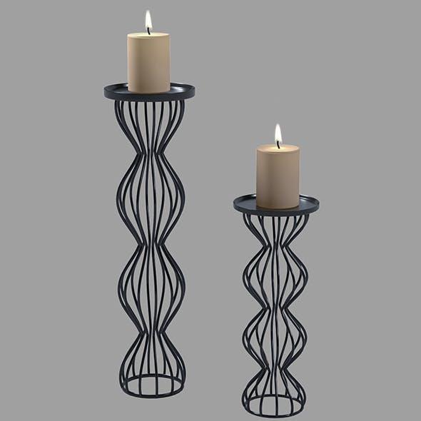 Modern Candlesticks - 3DOcean Item for Sale