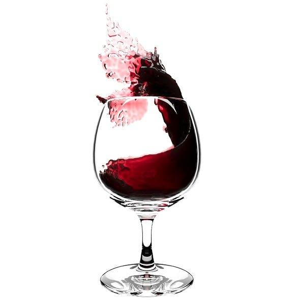 Splash Wineglass 3 - 3DOcean Item for Sale